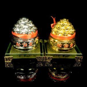 ถังเงิน ถังทอง 1คู่ ฐานแก้ว – FBW001