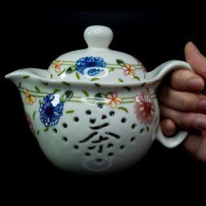 ชุดกาน้ำชาจีนเซรามิค ลายดอกไม้