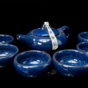 ชุดกาน้ำชาจีน ขนาด กานํ้าชา สูง7ซม กว้าง14ซม ถ้วยชา มี6ใบ ขนาด สูง4ซม กว้าง6ซม- TSS004