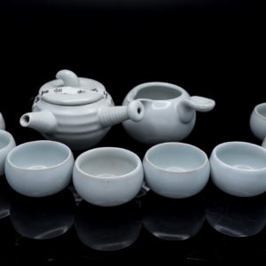 ชุดกาน้ำชาจีน กานํ้าชา สูง8ซม กว้าง12ซม ถ้วยชา มี6ใบ ขนาด สูง3ซม กว้าง6ซม- TSS009