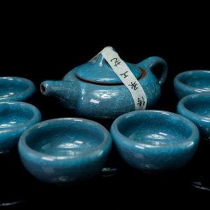 ชุดกาน้ำชาจีน ขนาด กานํ้าชา สูง 7ซม กว้าง14ซม ถ้วยชา มี6ใบ ขนาด สูง4ซม กว้าง6ซม- TSS005