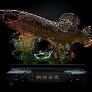 ปลามังกร  ขนาด สูง 21 ซม กว้าง 24ซม ลึก 11 ซม