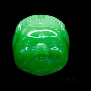 หมูเรซิ่น สีเขียว ขนาด สูง 8ซม. กว้าง 10ซม. ลึก 8ซม