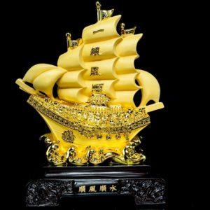 เรือสำเภาสินค้าหลุดQC ขนาด สูง30ซม กว้าง20ซม ลึก11ซม.