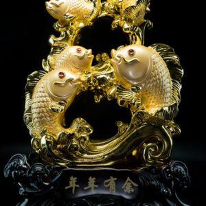 ปลาเลข8มงคล ขนาด  สูง45ซม กว้าง30ซม ลึก18ซม