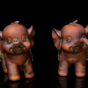 ช้าง1คู่ ขนาด  สูง12ซม กว้าง16ซม ลึก5ซม…ele005
