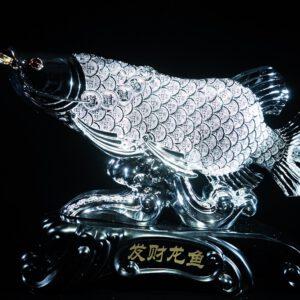 ปลามังกรทอง ขนาด  สูง40ซม กว้าง48 ซม ลึก13ซม